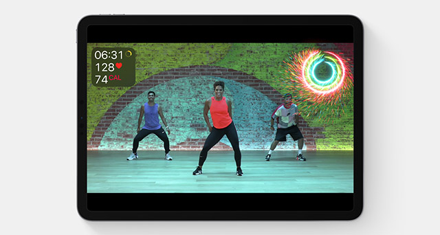 animations for closing activity rings in apple fitness+