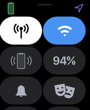 apple watch control center