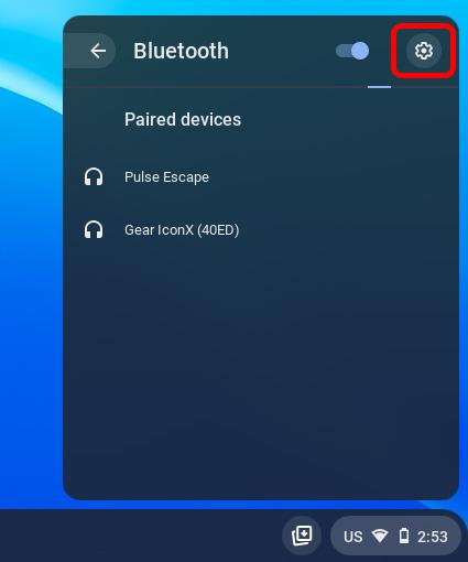 chromebook bluetooth settings icon