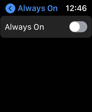 disable always on display apple watch