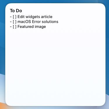 drafts widget mac