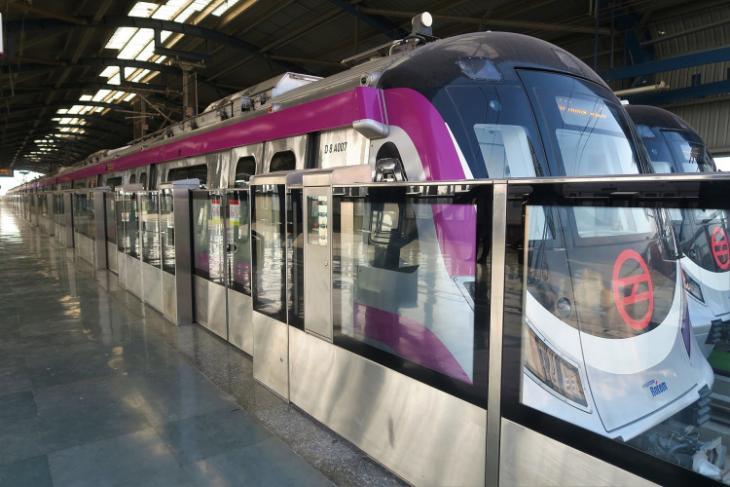 driverless delhi metro - magenta line