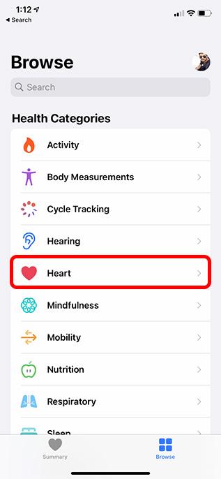 heart category health app