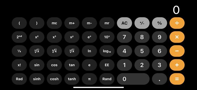 how to open scientific mode in ios calculator