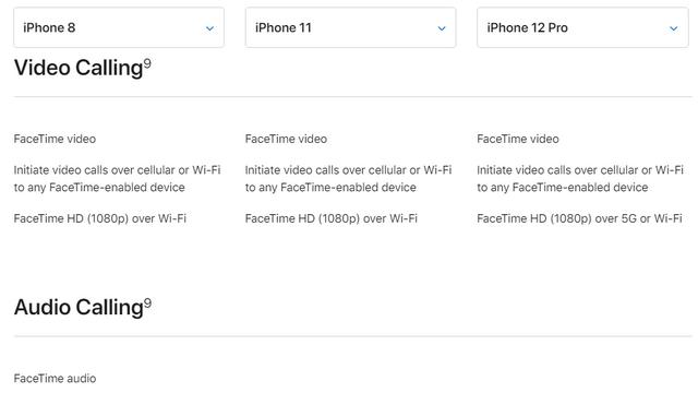 iphone comparison page