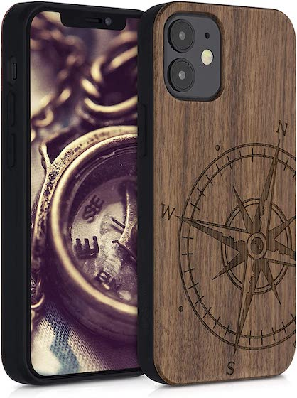 kwmobile Wooden Case Compatible with Apple iPhone 12 Mini