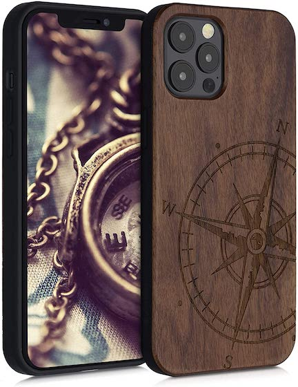 kwmobile Wooden Case Compatible with Apple iPhone 12 Pro Max