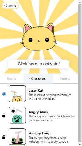 Chrome extension laser cat
