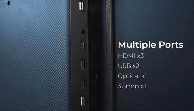 mi QLED tv 4k ports