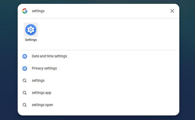 open chromebook settings