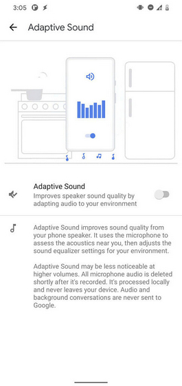 pixel 5 adaptive sound