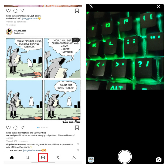 post images and videos from instagram lite