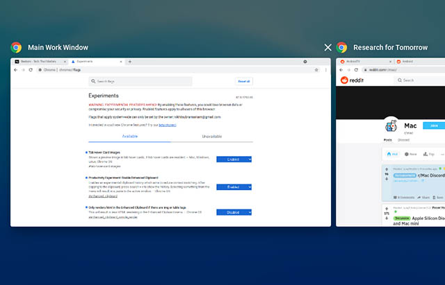 set a window name in chrome os