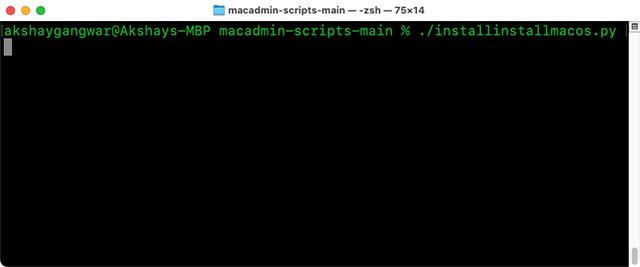 macadmin scripts terminal