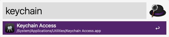 search keychain mac spotlight