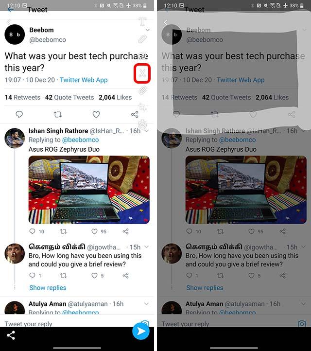 compartir tweets para ajustar android paso 2