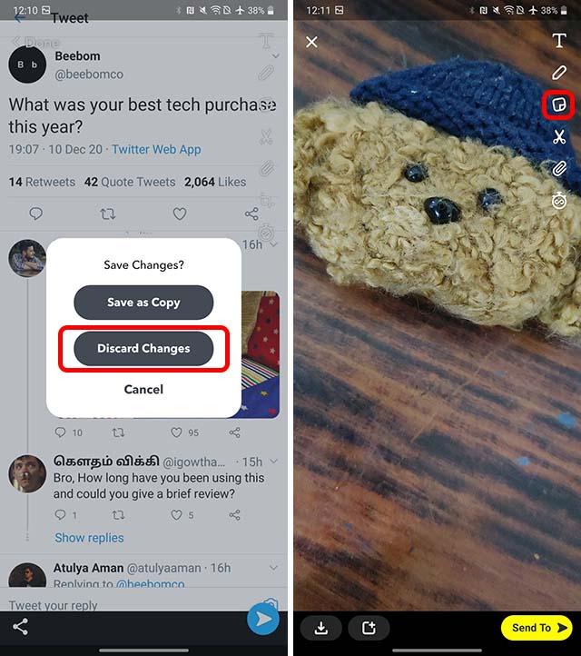 compartir tweets para ajustar android paso 3