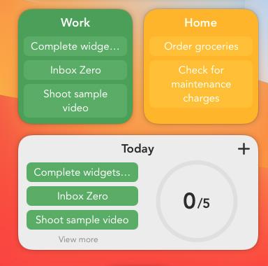 smarttasks widgets macos big sur