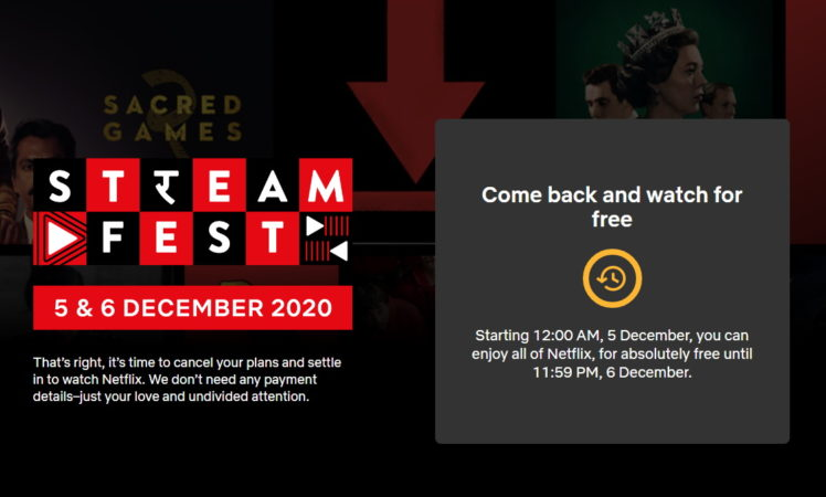 stream netflix for free in india