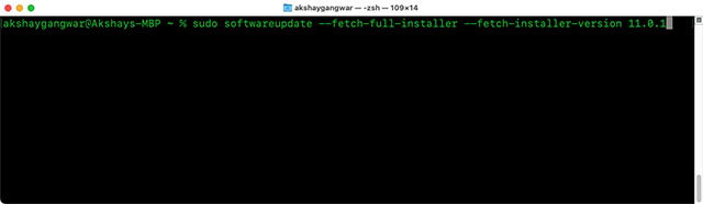 update macos using terminal commands