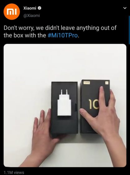 xiaomi mocks apple - charger in box