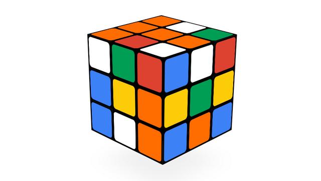 12. Кубик Рубика Google Doodle Game