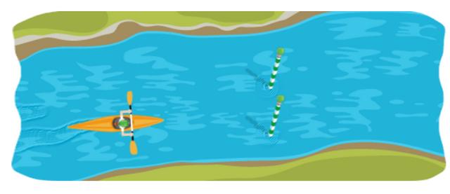 16. Google Doodle Game Slalom Canoe