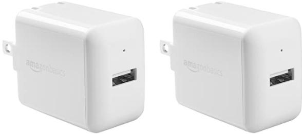 Amazon Basics One-Port 12W USB Wall Charger