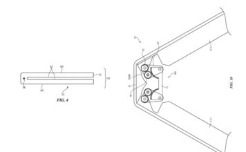Apple patent geared hinge foldable iphone