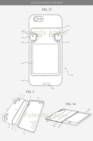 Apple patent iphone cases with airpods charging