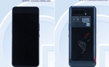 Asus ROG Phone 5 TENAA listing - design with dot matrix display on the rear leaked