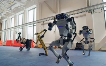 Boston Dynamics robots dance feat.