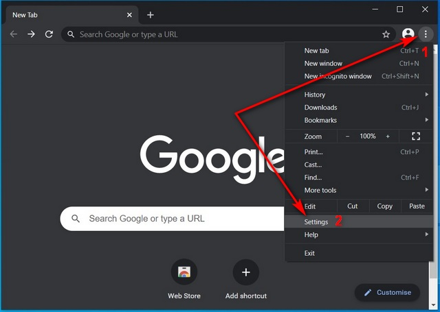 Change Default Search Engine in Chrome Windows
