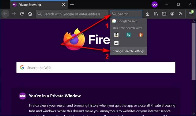 Изменить поисковую систему в Firefox на Windows, Mac и Linux