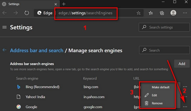 How to Change Default Search Engine in Microsoft Edge in Windows, Mac, Android, iOS