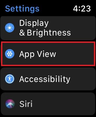 Choose App View