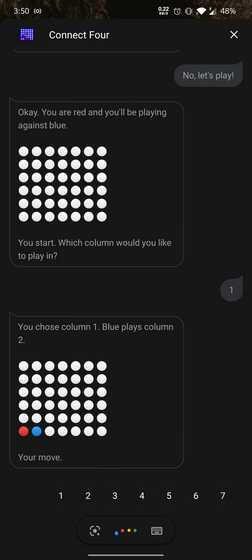 Connect Four Google Assistant Game