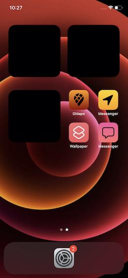 Create transparent widget