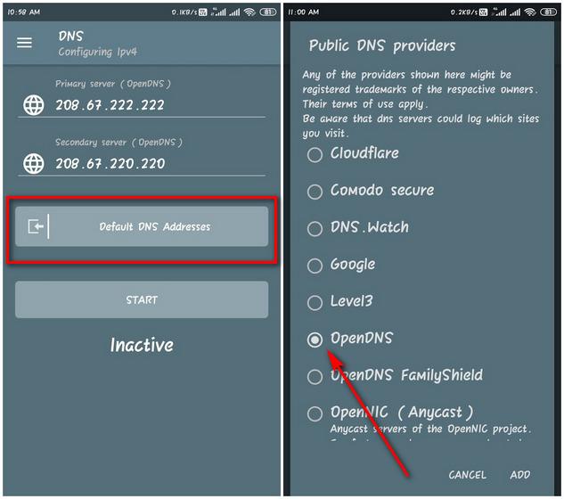 DNSChanger для IPv4 / IPv6