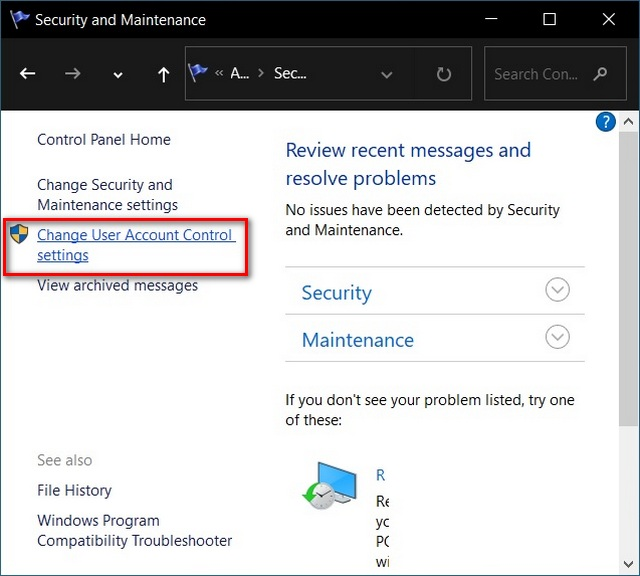 How to Enable or Disable User Account Control in Windows 10