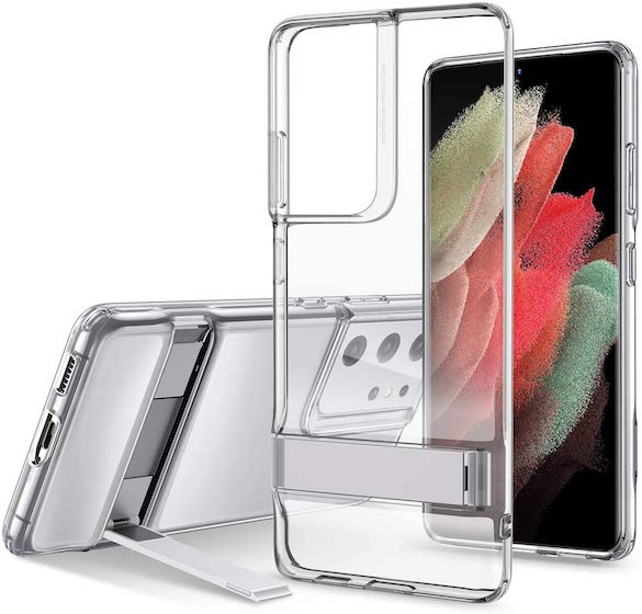ESR Metal Kickstand Case Compatible with Samsung Galaxy S21 Ultra (6.8-Inch) (2021)