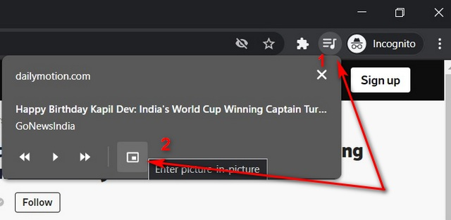 Enable Picture-in-Picture Mode in Chrome