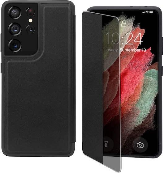 FYY Flip Case for Galaxy S21 Ultra 6.8 inch