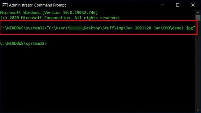 Open Files Via Command Prompt Directly