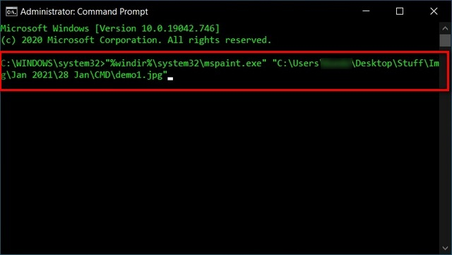 Specify an App to Open a File Using Command Prompt