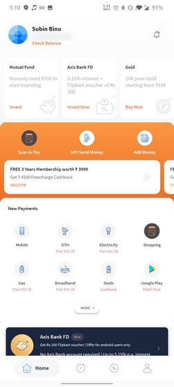 Freecharge UI