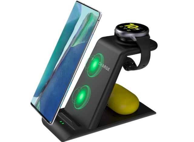 Kartice 3 in 1 Wireless Charger Station Compatible with Samsung Galaxy S21 Ultra