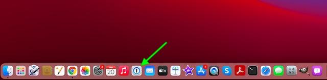 Launch 1Password on Mac