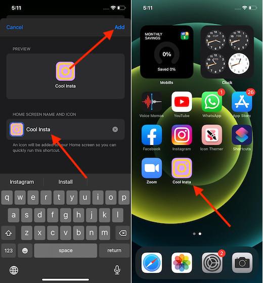 Make Custom app icon