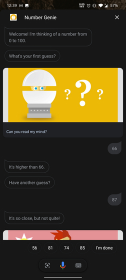 Number Genie Google Assistant Game